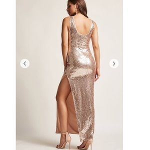 Metallic Sequin Maxi Dress